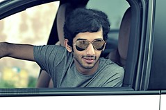 ! ..   ..     }~ (-7se) Tags: white grey glasses porsche cousin khalid reyban alsowaidi