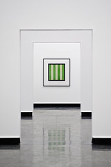 Regression (Sprengstoff72) Tags: white reflection green art hall interestingness stripes kunst compression photograph frame walls utstilling exhibtion christopherwilliams explored bergenkunsthall d700 vinylfloor bildekritikk flickrhivemind nikkor180mmf28difed
