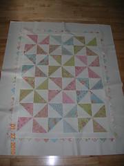 baby pinwheel quilt top