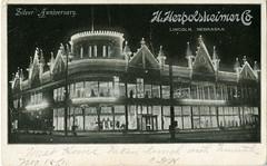 Herpolsheimer_Lincoln_NE_19 (Edge and corner wear) Tags: lighting windows retail architecture night shopping lights design store display postcard storefront department retailing