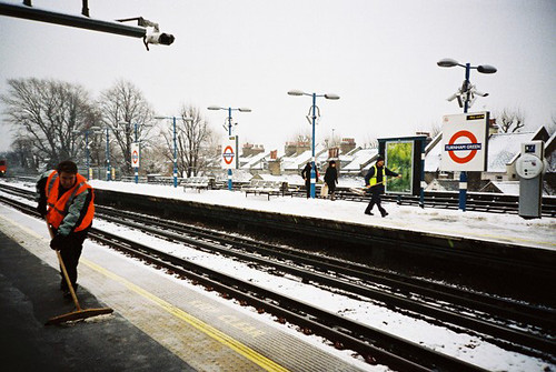 snowy at the station