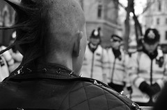 Bliar - 29/01/10 (ljosberinn) Tags: portrait blackandwhite afghanistan london warcrimes punk peace iran politics iraq protest police tonyblair journalism stopthewar blairinquiry
