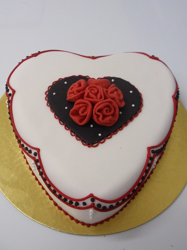 Valentine cookies and cakes
