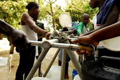 Water distribution in Martissant, Port-au-Prince, Haiti