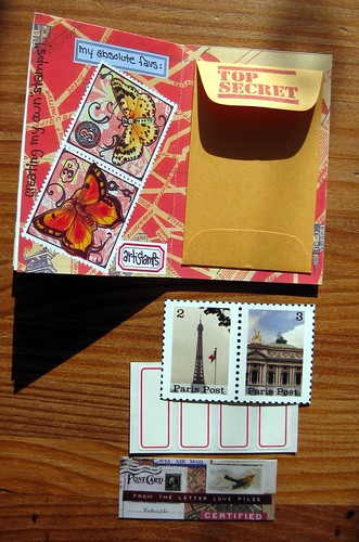Little envelope with artistamps