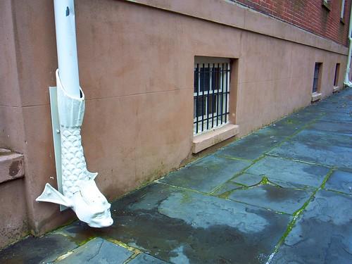 Sidewalk + nice drain pipe