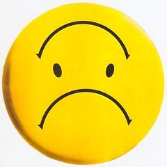 Down (fillzees) Tags: art yellow circle sad text literary happiness icon symmetry round symmetrical frown pictogram spherical topsyturvy ambigram prose emoji