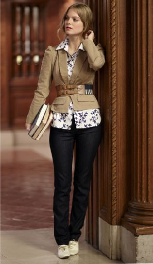 Anthro belted jacket