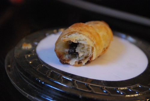 home made chocolate croissant.