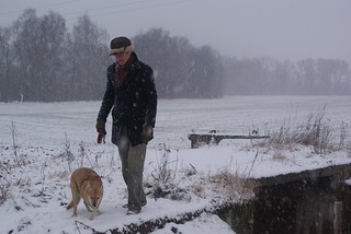 15 - Me and Zora in the snow
