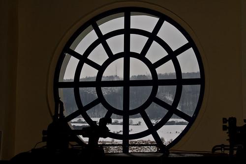Blick zum Sondershäuser Frauenberg im Winter
