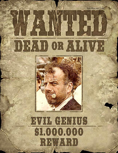 funny wanted poster effect