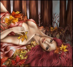 Fall into fall, double 2 ( Venena ) Tags: autumn fall leaves sims2 sim ari sims simart venena