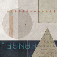 Paper Mashup (Cory Remjeske) Tags: art texture geometric modern illustration composition paper typography design graphicdesign artwork pattern deconstruct geometry shapes futurism type futuristic rectangles glyphs digitalage traingles makesomethingcooleveryday remjeske