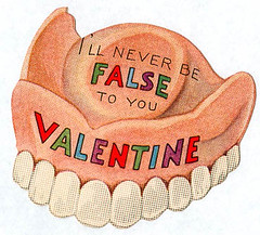 False teeth valentine (pageofbats) Tags: old vintage weird valentine retro card valentinesday falseteeth dentures vintagevalentine medicalvalentine vilevalentine