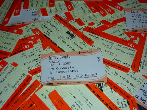 A Years Worth of Train Tickets