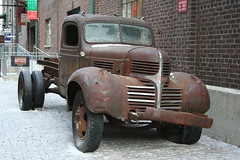 Old Dodge Truck (LakeRidge Photography) Tags: old red toronto brick truck rust antique wheels dodge distillery