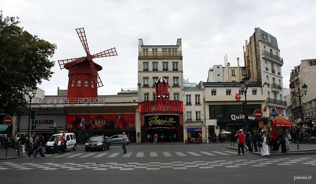 Le plus célèbre cabaret parisien : le Moulin Rouge