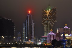 Night shot of Macau.... (Rosanna Leung) Tags: lighting night hotel nightshot macau  bankofchina   boc   grandlisboa