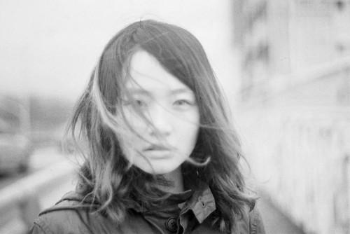 フリー画像| 人物写真| 女性ポートレイト| アジア女性| モノクロ写真|       フリー素材|