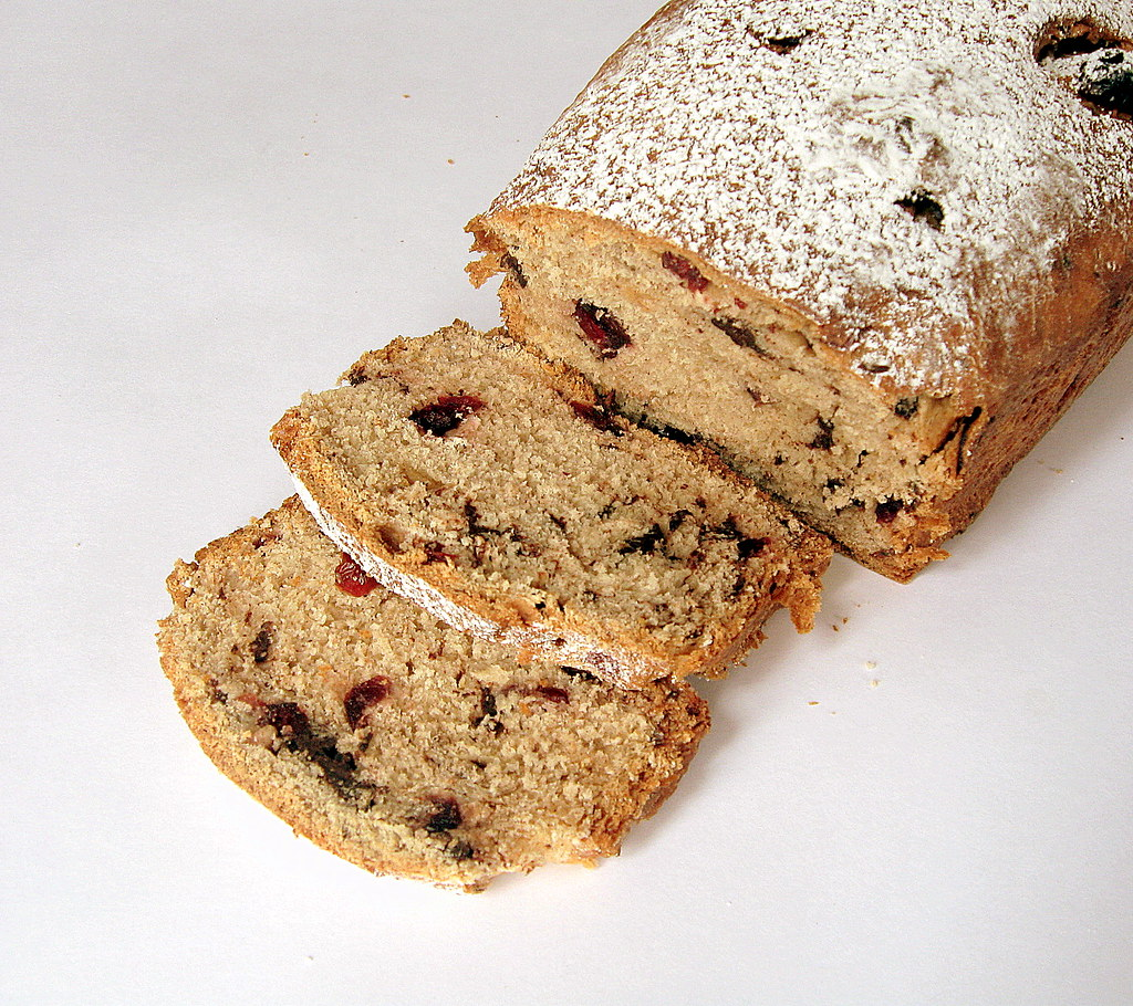 Choc fruit Spice Bread close up