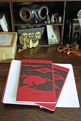 large hare molie (Champignons) Tags: red sky brown rabbit bunny moleskine notebook print screenprint hare journal large silk screen dreaming pocket kraft champignons moleskin jackrabbit cahier