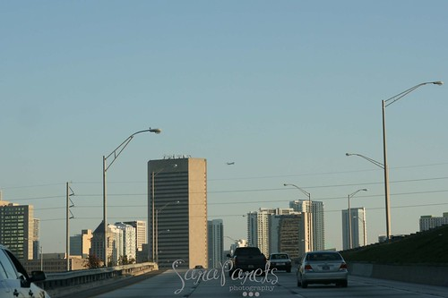 Miami Sky Line on Super Bowl Sunday 2/7/10