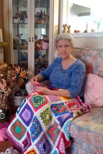 Me with 'Sunshine 2' - The Granny Blanket.