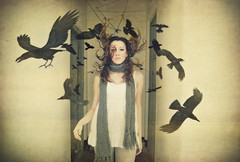 Free your crows (Desire Delgado) Tags: black girl birds fly movement chica negro free manipulation movimiento fantasy pajaros dreams photomontage montaje crows volar cuervos liberar desireedelgado
