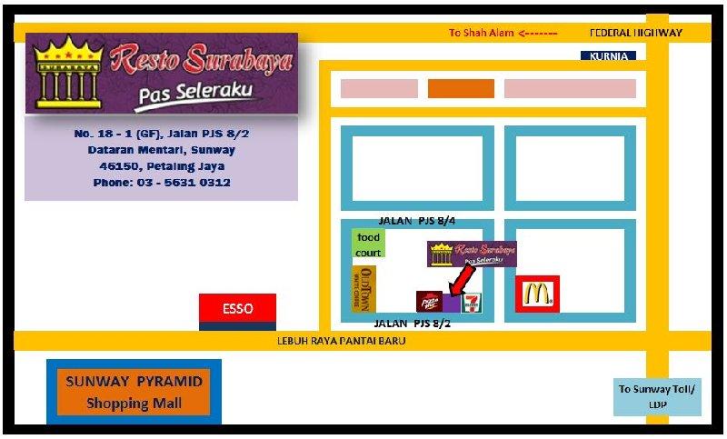 RestoSurabaya-Sunway-map