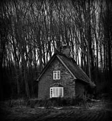 Cottage in the woods (Charlie M Francis) Tags: wood trees blackandwhite house mono woods cottage orton