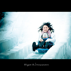 Have fun (Ziyan | Photography) Tags: blue winter snow canada ice canon quebec montreal 5d oldport 100400mm  ziyan  canonef100400mmf4556lisusm