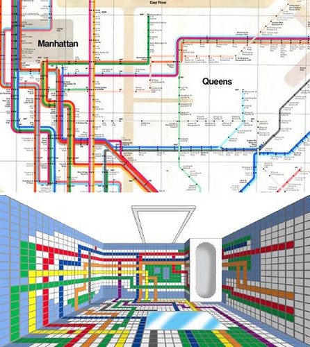 3D Subway bathroom tiles