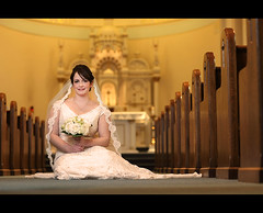 Cassie ~ Wedding Shot ~ Middle of the Isle (~Phamster~) Tags: wedding light church speed canon bride shot pocket wizards