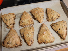 Brown Sugar Chocolate Chip Scones