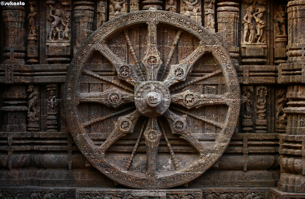 One of the wheels at Konark temple