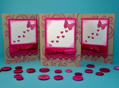 Butterfly Hearts Card