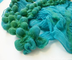 ocean blue shibori scarf (7) (creationsbyeve) Tags: green scarf europe felting handmade crafts silk felt greece homemade handcrafted etsy artisan crafting oceanblue bobbles shibori handfelted handmadegifts handcraftedgifts nunofelt europeanstreetteam creationsbyeve etsygreekteam