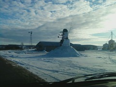 Giant Snowman at Dairy