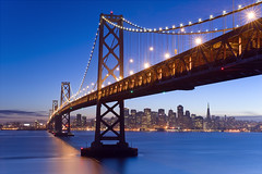 Bay Bridge Twilight (David Shield Photography) Tags: sanfrancisco california city longexposure bridge sunset color water lights bay twilight baybridge angelisland yerbabuenaisland coth beautifulwork flickraward nikond700 nikonflickraward bestcapturesaoi coth5