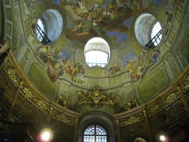 Frescoes in the Prunksaal of the National Library in Vienna, Austria