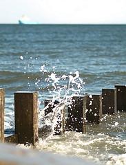 Splash1 (Mel Stephens) Tags: uk sea building geotagged coast scotland seaside olympus structure coastal aberdeen manmade gps groyne 2010 groynes