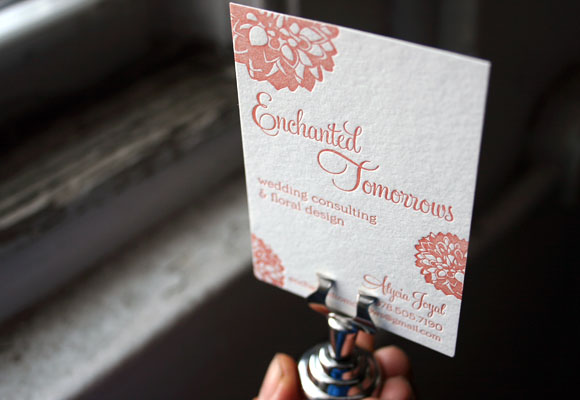 Custom Letterpress Business Cards by Smock