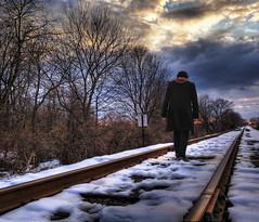 059/365 February 28, 2010 (john the supernova) Tags: railroad winter selfportrait snow traintracks tracks surreal nikond50 365 railroadtracks postapocalyptic project365 365days