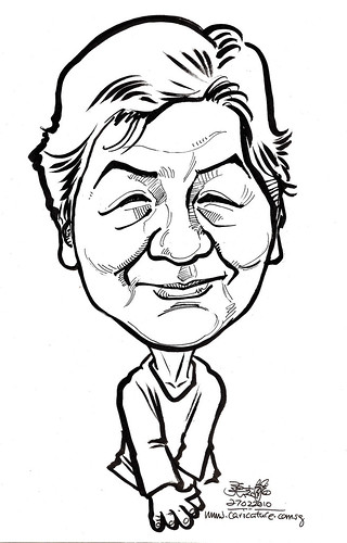 Caricature for K C Dat -  Auntie Wee