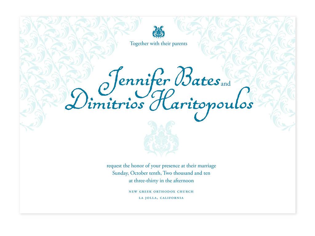 Jenn Bates, Wedding Invite Proofs Option 3