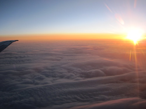 Sunset over Colorado, at 33000 feet