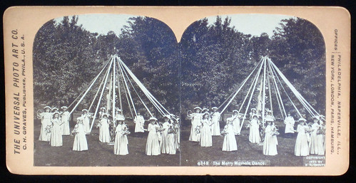 The Merry Maypole Dance. Universal Photo Art Co. 1894