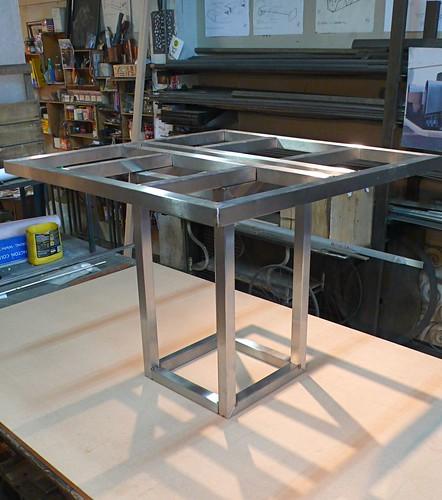 Stainless Steel Pedestal Table base  ::    in Progress