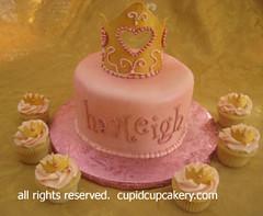 Princess Cake & Birthday Cupcakes (Cupid Cupcakery) Tags: birthday pink cakes cupcakes princess cleveland cupcake birthdaycake littlegirl crown chardon princesscake birthdaycupcakes princesscupcakes cupidcupcakery cupidcakecompany